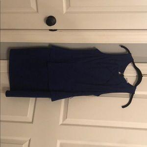 Blue dress with keyhole back